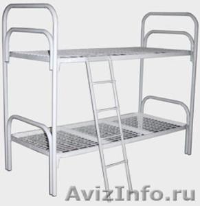 Кровати металлические трёхъярусные, кровати для школ, кровати низкая цена - Изображение #1, Объявление #1479528