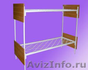 Кровати металлические трёхъярусные, кровати для школ, кровати низкая цена - Изображение #2, Объявление #1479528