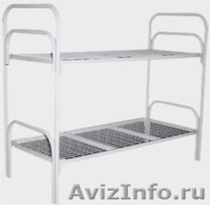Кровати металлические для бытовок, кровати трёхъярусные для рабочих. опт. - Изображение #1, Объявление #1479844