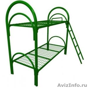 Железные двухъярусные кровати для бытовок, кровати для общежитий. Дёшево - Изображение #2, Объявление #1480235