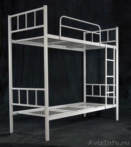 Железные двухъярусные кровати для бытовок, кровати для общежитий. Дёшево - Изображение #1, Объявление #1480235