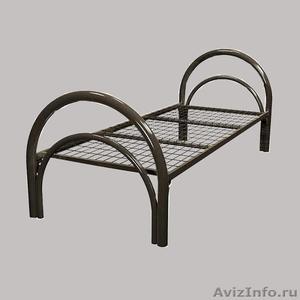 Железные двухъярусные кровати для бытовок, кровати для общежитий. Дёшево - Изображение #4, Объявление #1480235